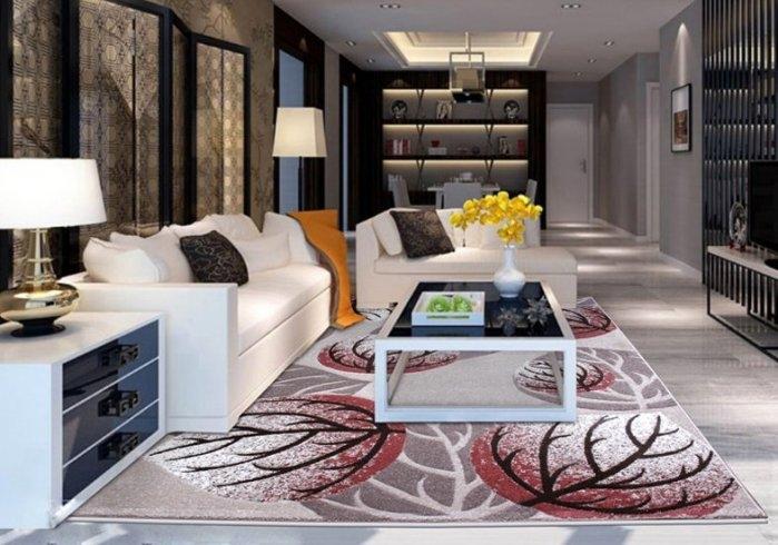 現代客廳地毯沙發茶幾地毯臥室床邊辦公室門口大小地墊4069