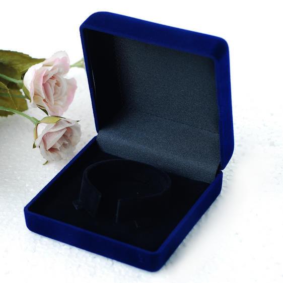 植絨手鐲盒批發珠寶盒首飾盒9*9公分空盒翡翠手鐲緬甸玉手鐲專用