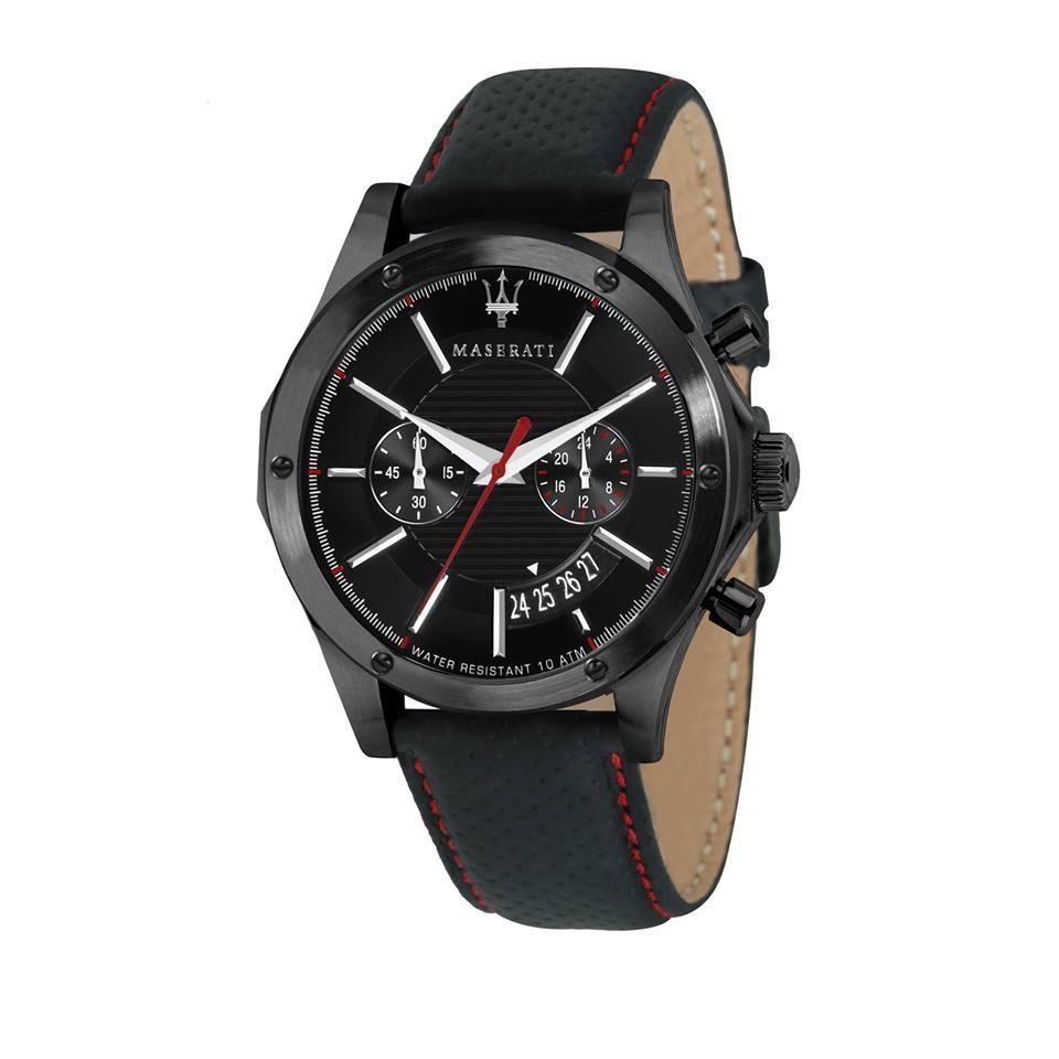 Maserati 瑪莎拉蒂-台灣總代理公司貨-原廠保固兩年-海神霸氣雙眼腕錶(手錶 男錶 女錶 對錶)