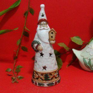 家居飾品陶瓷工藝品聖誕節節日用品裝飾品擱板擺飾燭爐老公公