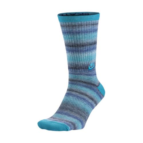 NIKE SB DRI FIT SPACE DYE中筒襪襪子日常玩板裝備男藍