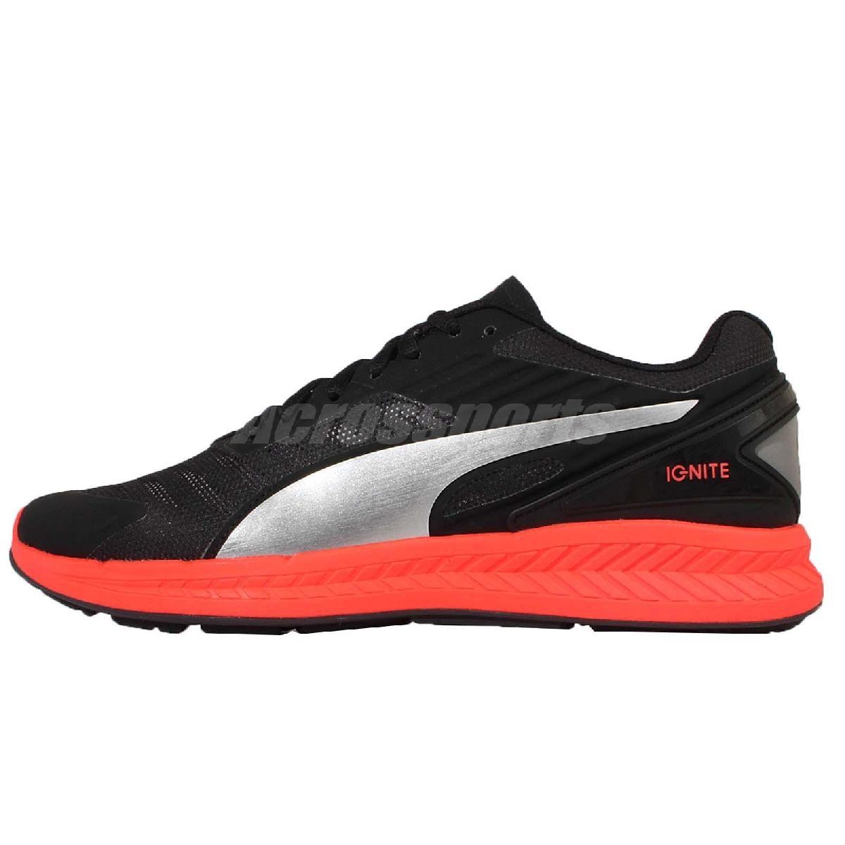 Puma 慢跑鞋 Ignite V2 Mesh鞋面 透氣 低筒 路跑 跑鞋 黑橘 男鞋【PUMP306】 18861102