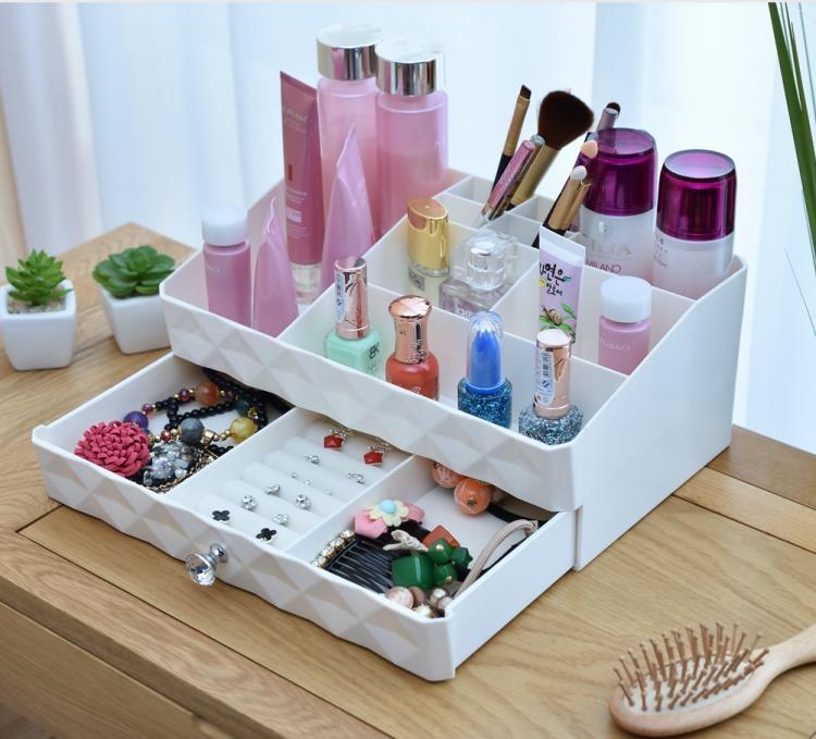 抽屜式化妝品收納盒桌面整理