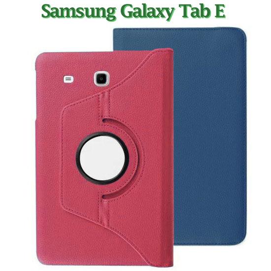 旋轉斜立三星SAMSUNG Galaxy Tab E 9.6 T560平板專用荔枝紋皮套書本式保護套支架展示