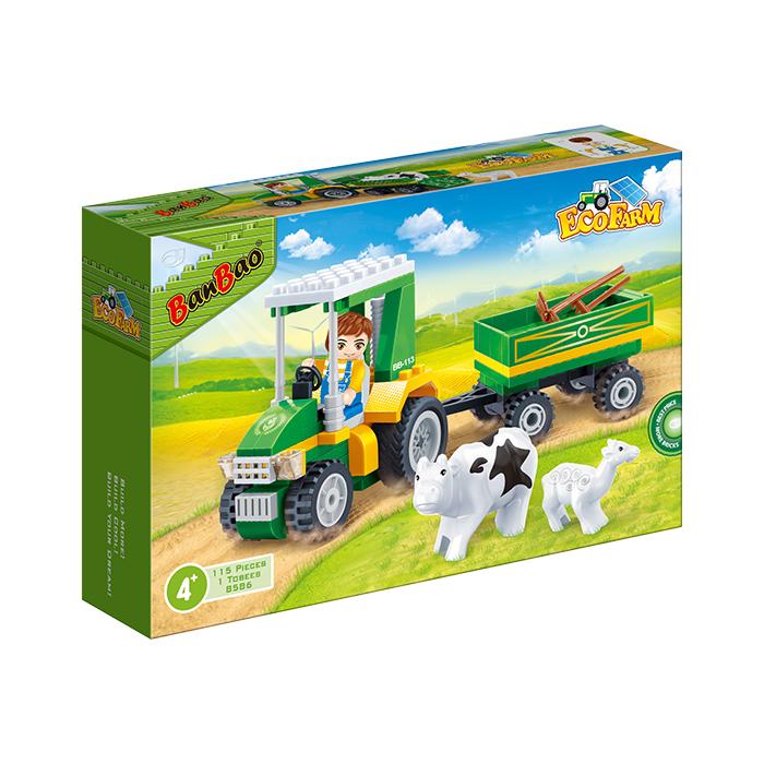 開心農場系列 NO.8586農場搬運車(與樂高Lego相容)【BanBao邦寶積木楚崴】