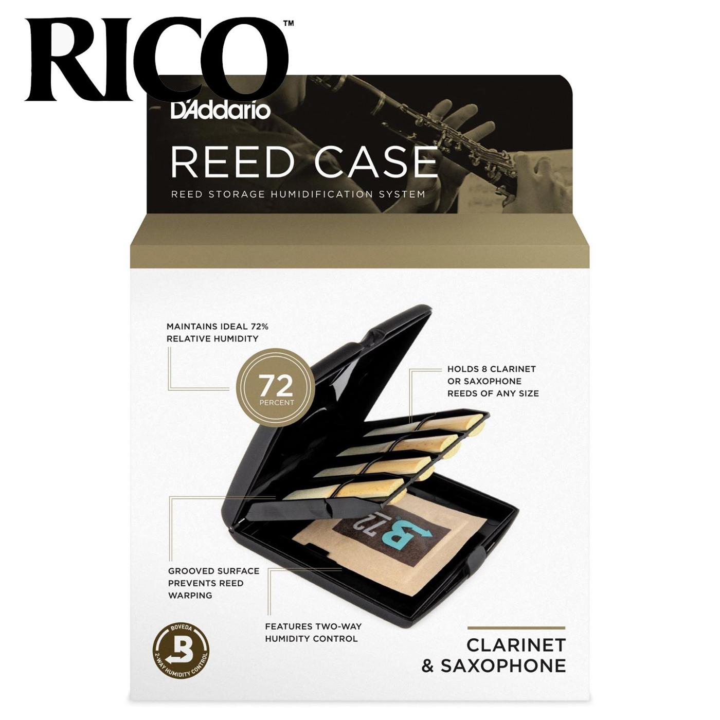 小叮噹的店RVCASE04美國RICO竹片濕度控制盒可放8片保濕盒豎笛薩克斯風