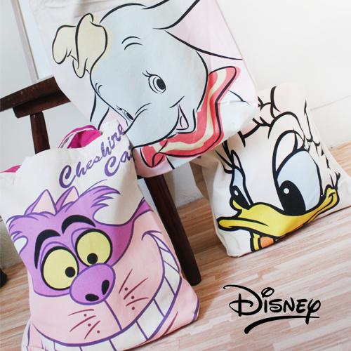 迪士尼正版授權大容量肩背手提包小飛象唐老鴨黛絲裂嘴貓瑪麗貓