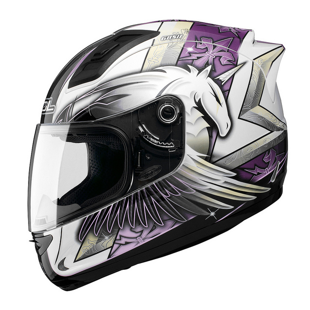 SOL 68Sll獨角獸三代白紫全罩安全帽69S免運費加贈好禮