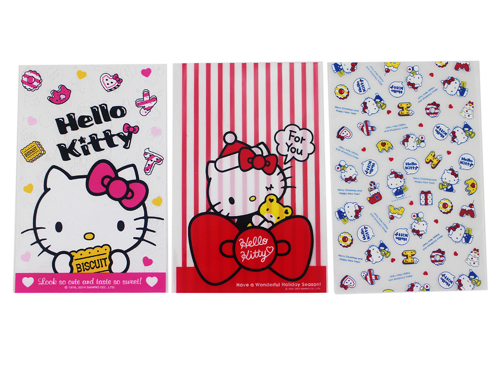 【卡漫城】 Hello Kitty 收納袋 3包一組 ㊣版 禮物袋 小物 食品 包裝帶 點心袋 糖果 手創 凱蒂貓