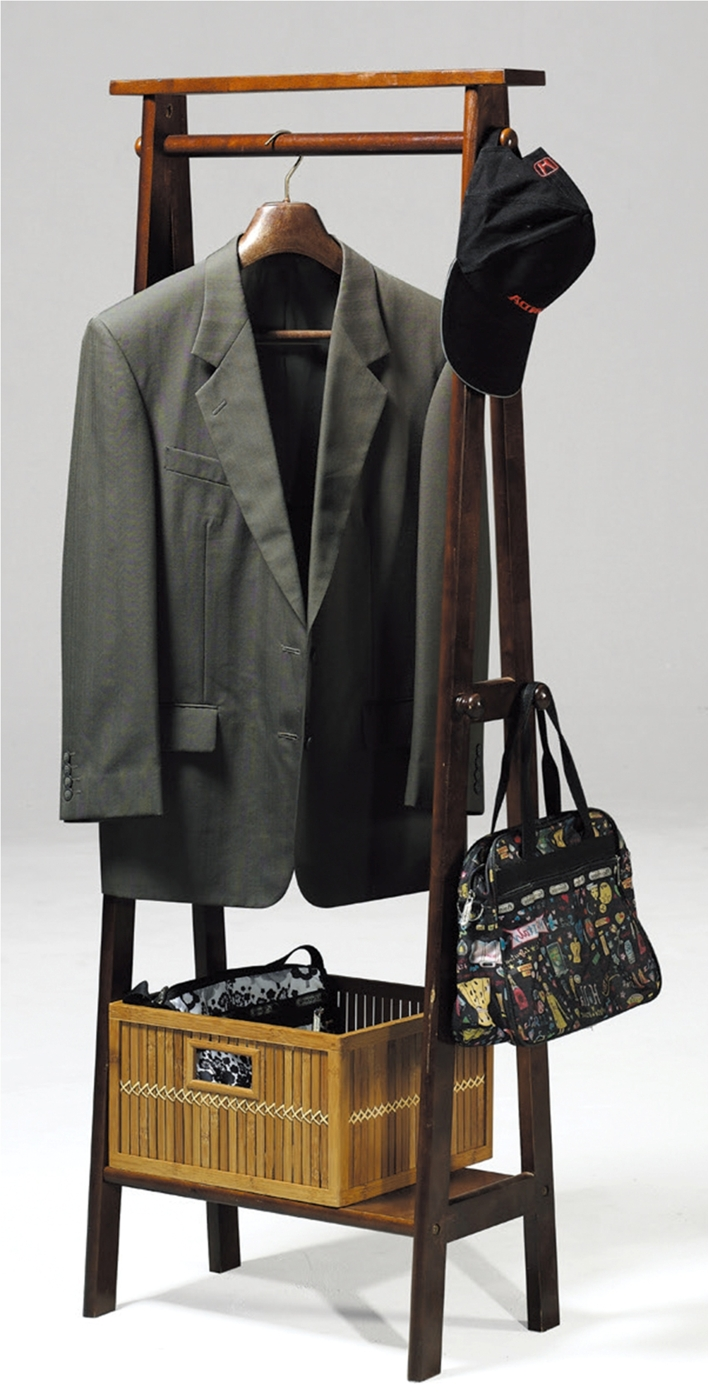 HY-925-8朵拉實木衣帽掛架