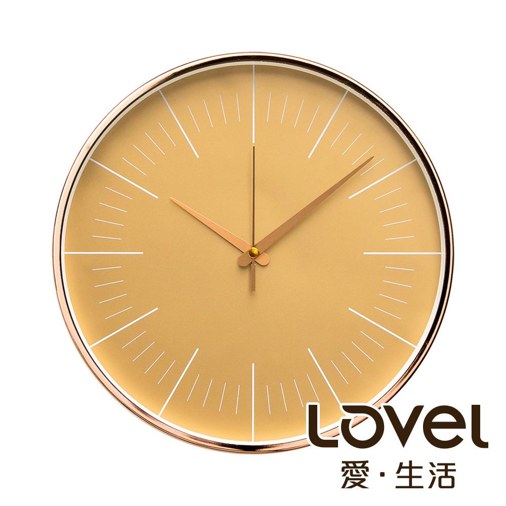 Lovel 30cm簡約玫瑰金框靜音時鐘 - 共3款