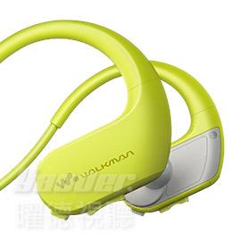 曜德買一送三SONY NW-WS413黃綠4GB防水極限運動數位隨身聽免運送收納盒耳塞絨布袋