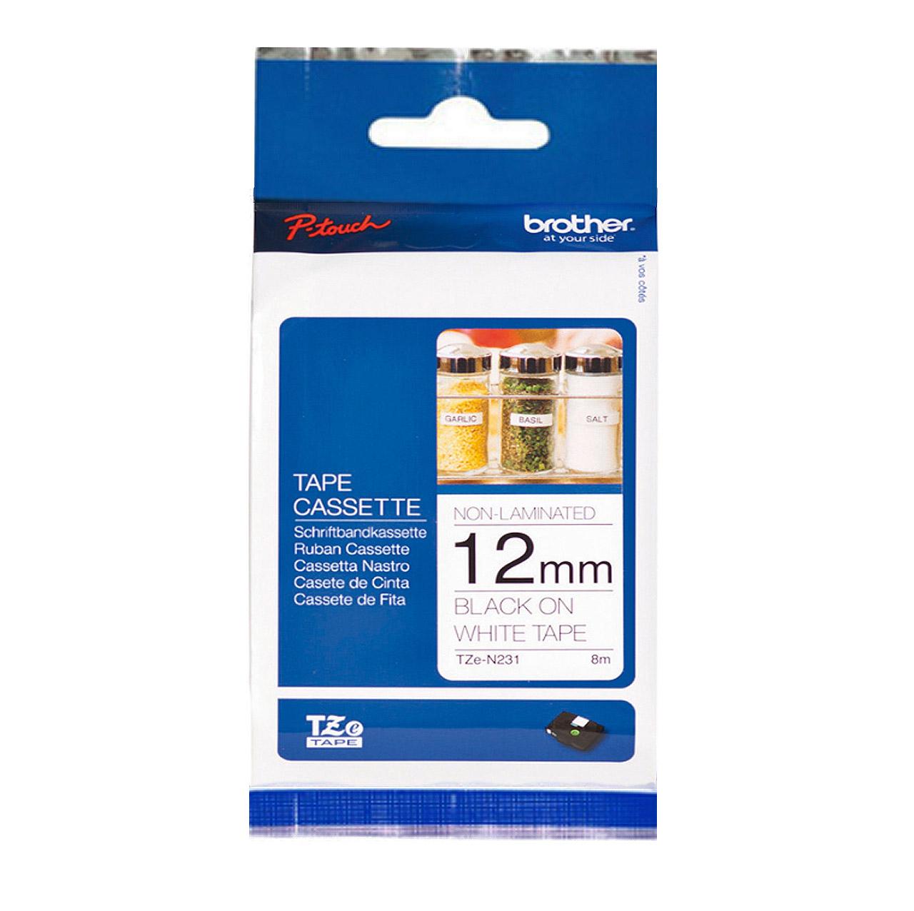 Brother TZ-N231/TZe-N231 白底黑字 原廠一般標籤帶 適用PT-1280‧1100‧2430‧2700‧9700‧9800