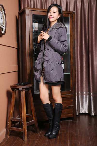 3C膜露露中長款輕薄羽絨服韓版修身帥氣女外套