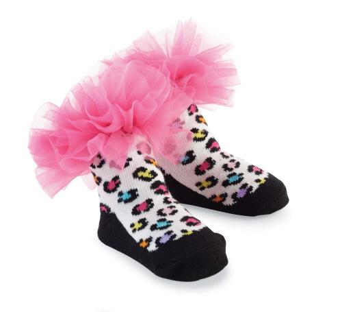 瑪麗珍短襪組: 熱情粉豹紋: 176260