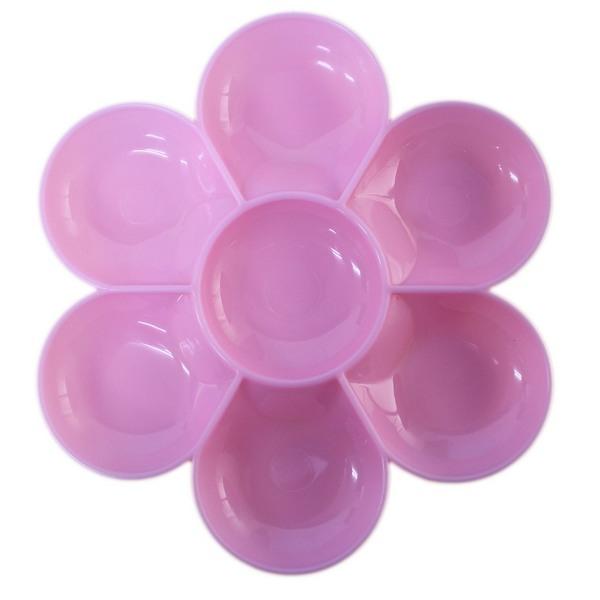 梅花盤標準型梅花盤成昌梅花型水彩盤調色盤粉彩色一袋12個入定15
