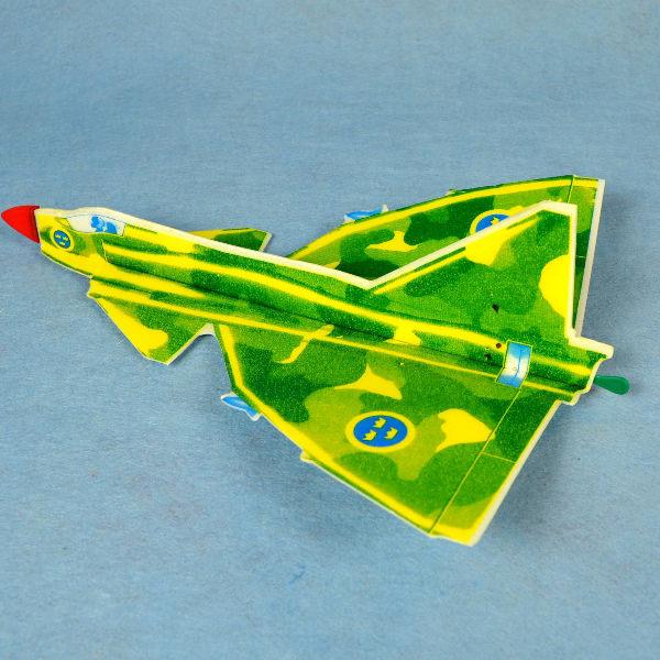 佳廷家庭 DIY紙模型立體勞作3D立體拼圖專賣店 航空模型飛機 彈射迴旋飛機8 瑞典VIGGEN FLYWITCH