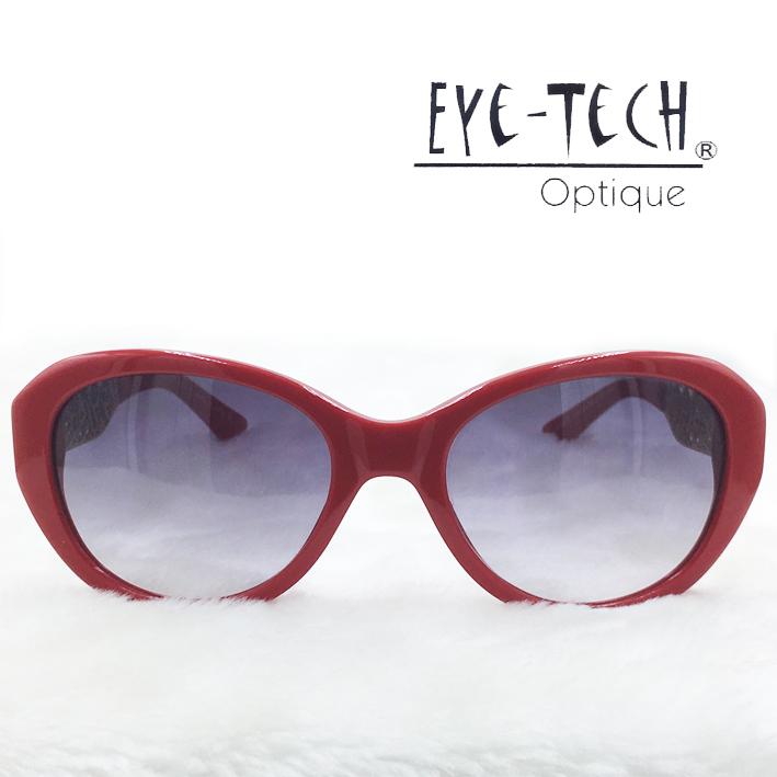 橘子樹眼鏡Eye Tech腳架鏤空花紋太陽眼鏡獨家限量ET3267紅色抗UV太陽眼鏡日本製