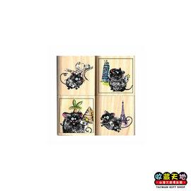 【收藏天地】Micia四入印章組*古典旅行鼠∕ 印章 擺飾 送禮 趣味 文具 創意 觀光 記念品