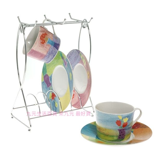 九元生活百貨雙魚咖啡杯架馬克杯架金屬杯架餐盤架