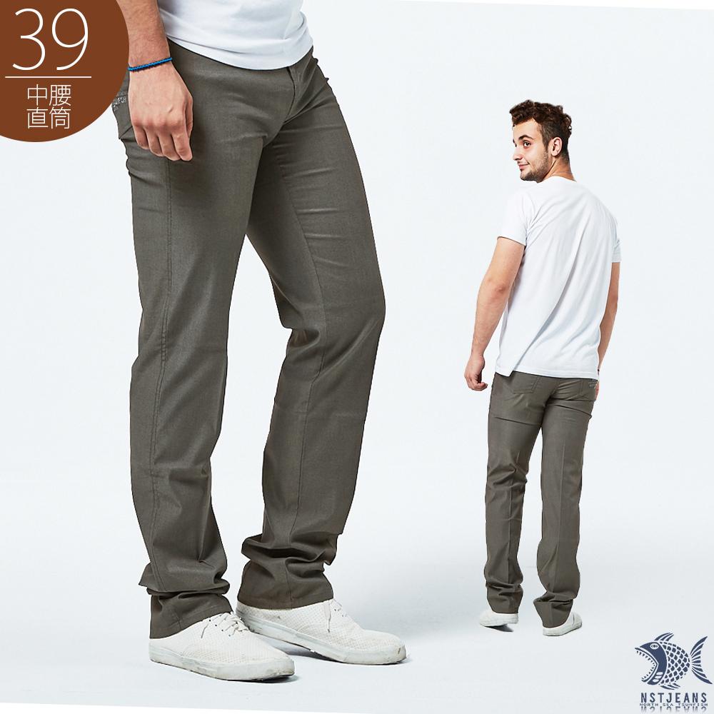 【NST Jeans】鴿灰色 輕薄商務休閒褲(中腰) 390(5685) 台製 紳士 男 夏季薄款