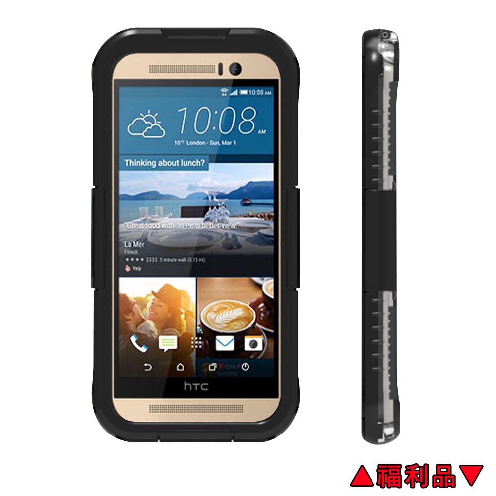 福利品水漾Sharks box HTC M7 M8 M9 IP68級防水手機殼-黑原價980元