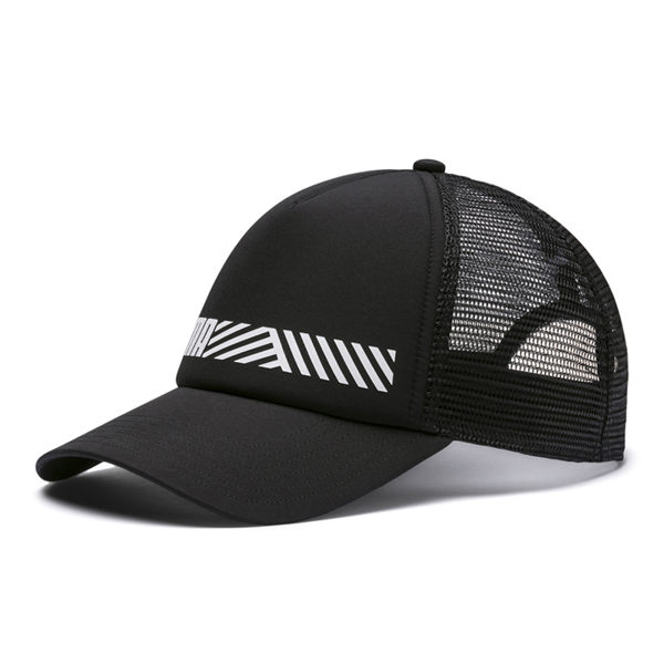 Puma 黑 運動帽 遮陽帽 老帽 網面 六分割帽 6-Panel 經典棒球帽 運動帽 棒球帽 02191501
