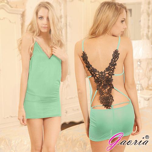 性感睡衣角色扮演露背洋裝Gaoria派對女孩露背V領夜店服裝緊身包臀情趣服裝