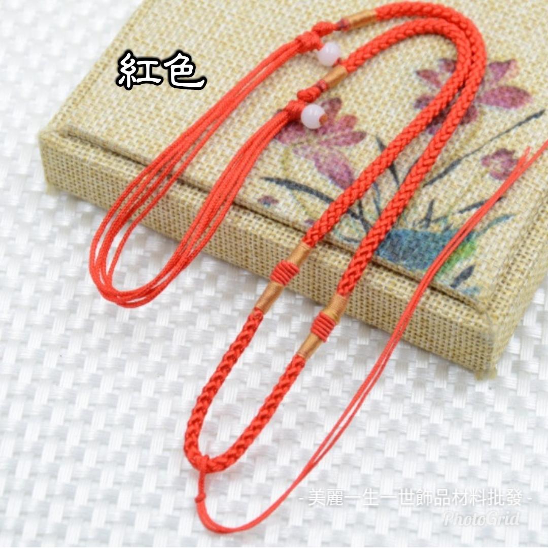 3mm項鍊繩批發水晶玉石墜子手工項鍊繩單條皮繩