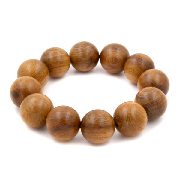 沉水肖楠手珠12粒20mm| 挑選每一顆能沉水的肖楠圓珠串成佛珠 奇木球珠收藏