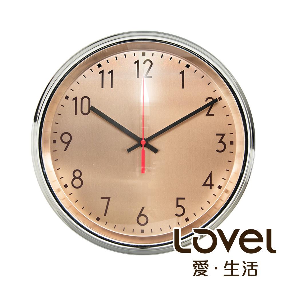 Lovel 31cm工業風鐵框魚眼鏡面靜音時鐘 - 共5款