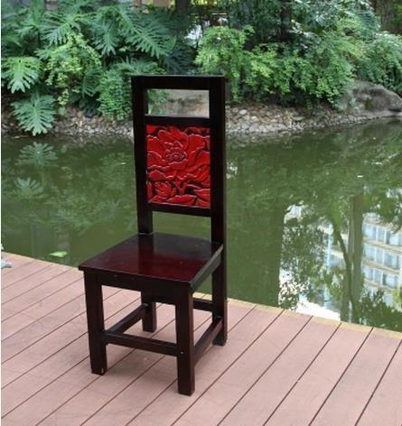 超豐國際椅子客廳小家具簡約設計實木餐椅子樹脂餐桌椅