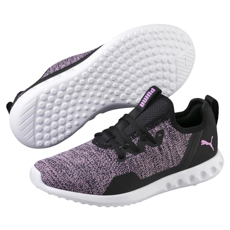 Puma Training 黑 粉紫 女款 運動鞋 訓練鞋款 慢跑 休閒 Knit 瑜珈 健身 輕量 19096703