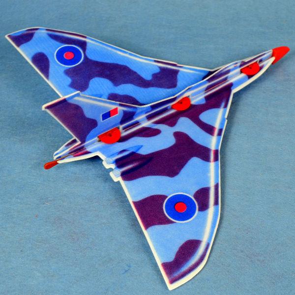 佳廷家庭 DIY紙模型立體勞作3D立體拼圖專賣店 航空模型飛機 彈射迴旋飛機3 英國VULCAN FLYWITCH