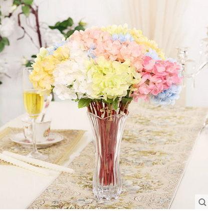 F0808清新簡約瓶花器擺設歐式家居客廳桌面裝飾品繡球花套裝1套
