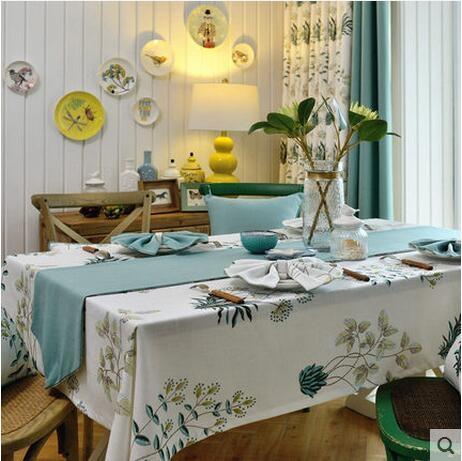餐桌墊布藝茶几桌布西餐廳桌旗棉麻歐式長方形台佈
