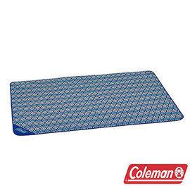 Coleman藍葉圖騰野餐毯CM-23121戶外遊戲毯露營防水