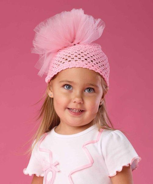 保暖針織帽: 粉紅雪紡: 173176