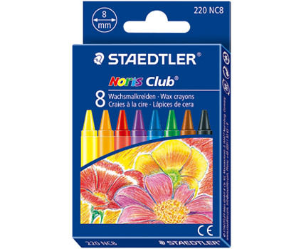 STAEDTLER 施德樓 快樂學園 無毒安全防水油腊筆8色