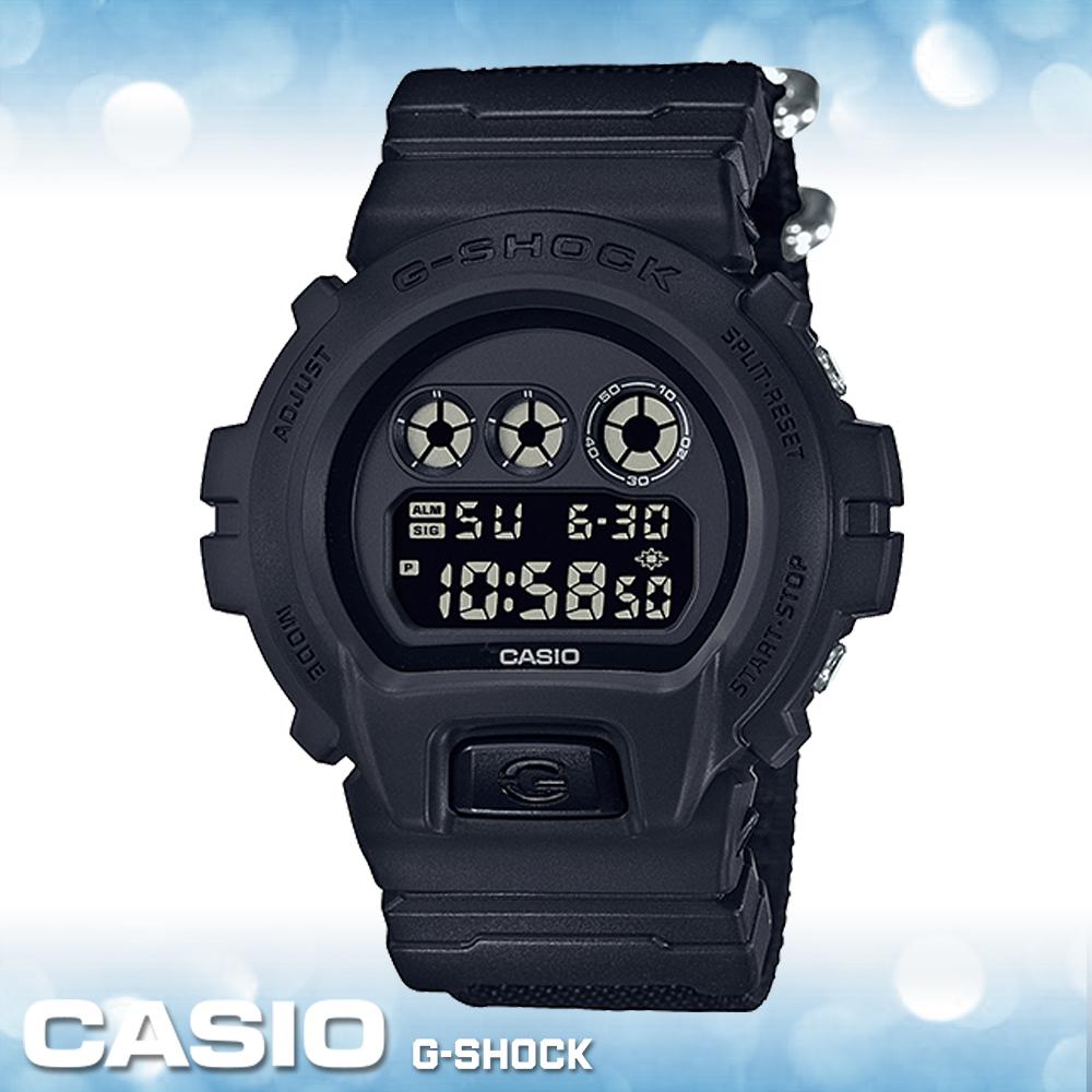 CASIO 卡西歐 手錶專賣店 G-SHOCK DW-6900BBN-1D 尼龍布料錶帶 電子錶耐衝擊構造 防水 LED照明