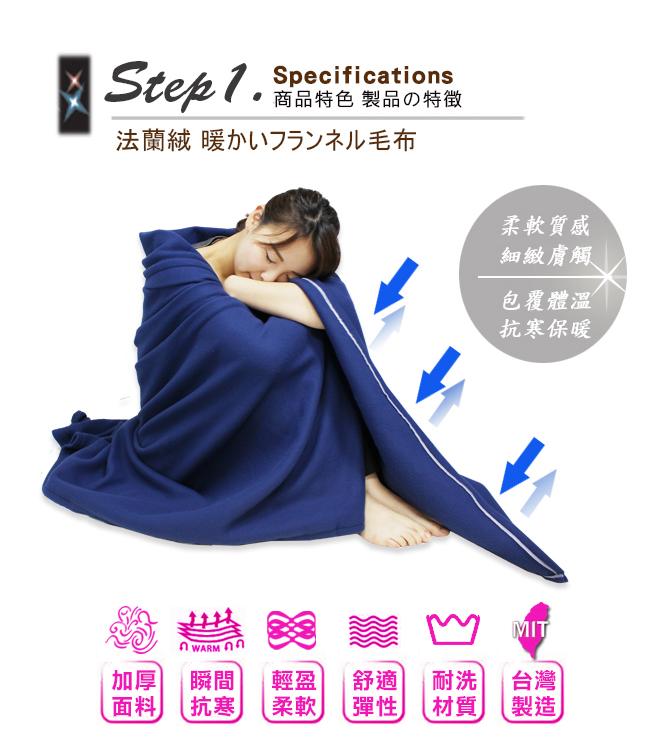 葛蘿莉雅Gloria超柔細法蘭絨加厚刷毛毯旅行毯四季毯車用毯冷氣毯沙發毯夏被台灣製造