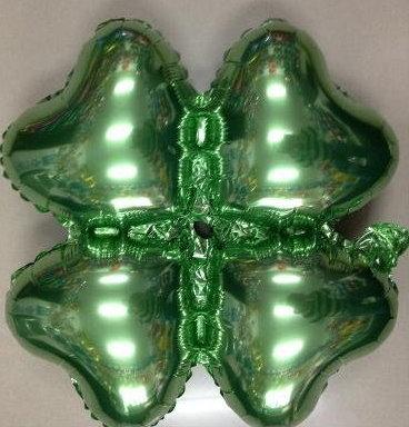 小四輪(愛心)造型鋁箔氣球-綠色(未充氣)~~求婚道具/婚禮 生日 耶誕節 尾牙佈置