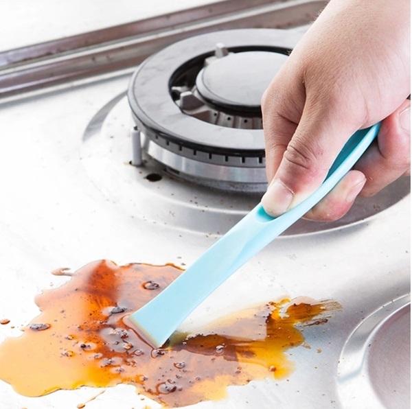 ♚MY COLOR♚廚房多功能清潔刀 油漬 汙漬 刮刀 鏟刀 縫隙 刮除雙頭 創意 折疊 瓦斯爐 【Z13-1】