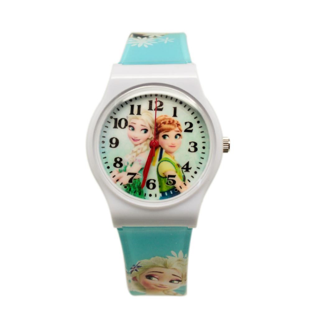 【Disney迪士尼】卡通錶(中) - 冰雪奇緣系列  拍檔安娜與艾莎_夏季清爽版