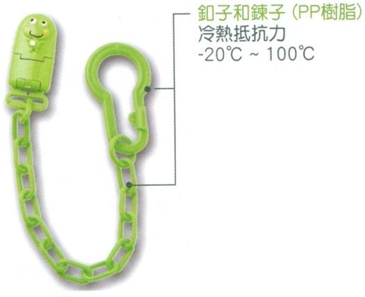 大眼蛙 卡通奶嘴練 (綠) D-5216
