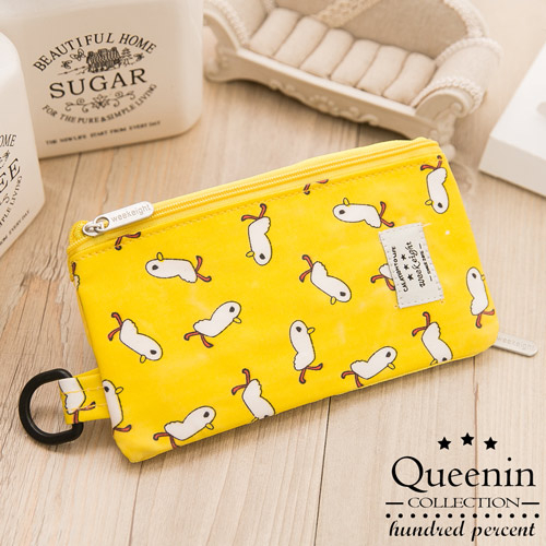 DF Queenin皮夾 - 韓版可愛卡通可觸控手機袋零錢包