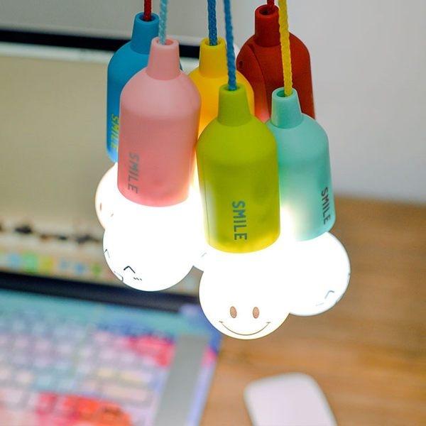 【拼團】表情燈泡小夜燈 手拉式開關 LED燈泡 床頭燈