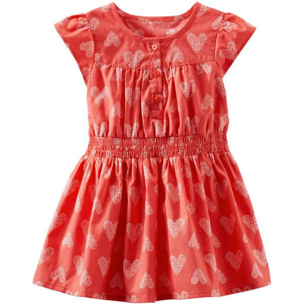 Carter's OshKosh B'gosh美國童裝洋裝愛心兩件組橘紅色9M 12M 18M 24M