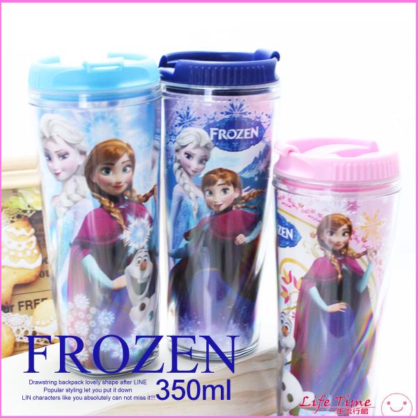 最後7個冰雪奇緣正版迪士尼咖啡隨行杯隨手瓶水瓶環保杯螺紋杯350ml B05692