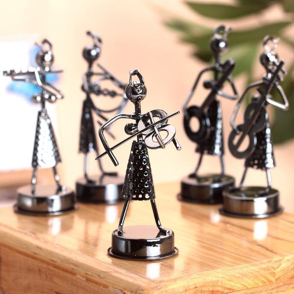 CH184─鐵藝女孩樂隊工藝品人物造形居家裝飾擺件畢業禮物送老師同學(隨機出貨)
